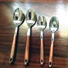 Set of 4 Mid Century Stainless Spoons with by ContemporaryVintage, $10.00