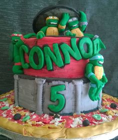 Teenage Mutant Ninja Turtle's Cake