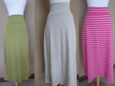 DIY long knit skirts