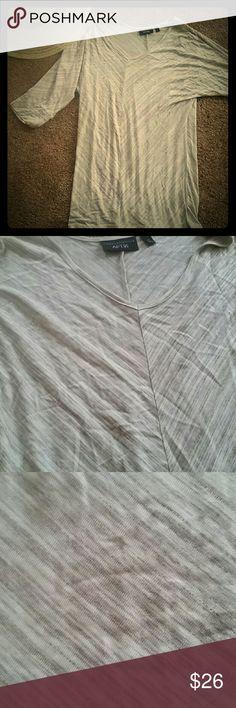 FLOWY LONG SHORT SLEEVE SHIRT BNWT!! SUPER CUTE and super versatile! Wear ANYWHERE! slight v neck. Apt. 9 Tops Tunics