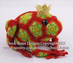 Tomato the Frog Prince African Flower Crochet door heidibears