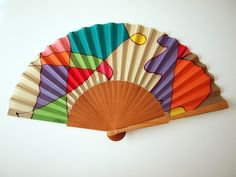Hand fan Handpainted Silk- Abanico- Wedding gift- Giveaways- Bridesmaids- Spanish hand fan - 17 x 9 inches (43 cm x 23 cm) de gilbea en Etsy