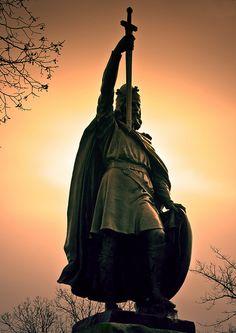 King Arthur's Statue, taken at Winchester