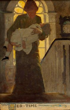 Jessie Willcox Smith - Bed-Time, Scribners Monthly Magazine Illustration | 1stdibs.com