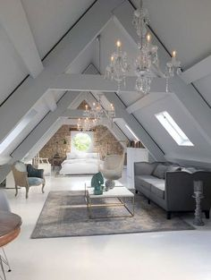 Chandeliers in the attic