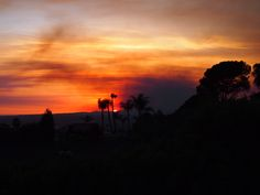 Amazing sunset over Oceanside looking West to Camp Pendleton fire.  To the north, east and south 8 more fires are burning.