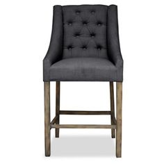 Check out this item at One Kings Lane! Camilla Tufted Barstool, Charcoal