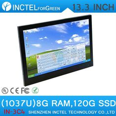 13.3 inch All-in-One POS industrial 4-wire resistive touchscreen computer 1280*800 linux install  8G RAM 120G HDD