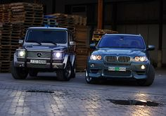 Mercedes-Benz G55 AMG & BMW X5.
