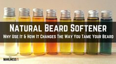DIY: How to Make Beard Oil. Quick & Easy Recipes - - How to make beard oil? The art of beard oil making requires, essential oils, carrier oils and a bottle to store it. DIY beard oil recipes to make at home. Diy Beard Oil, Beard Oil And Balm, Best Beard Oil, Beard Balm, Homemade Beard Oil, Beard Softener, Beard Butter, Essential Oil Carrier Oils, Beard Conditioner
