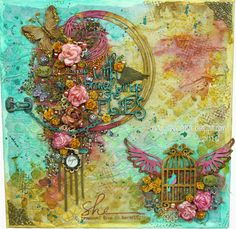 In My Little Korner: Mixed Media - With Brave Wings Color Challenge...