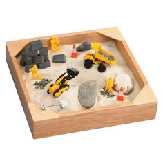 Tabletop Sandbox with Construction Toys.