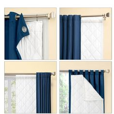 Season Smart Thinsulate Insulating Curtain Liner Pair – Overstock™ Shopping – Great Deals on Curtains Window Treatment Store, Window Coverings, Window Treatments, Winter Curtains, Drapes Curtains, Drapery, Insulated Curtains, Thermal Curtains, House Windows