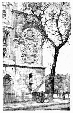 Samuel Chamberlain (1895-1975-American) - L'Horloge, Paris - 1924