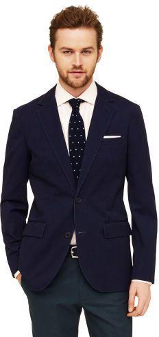 $269, Club Monaco Grant Cotton Blazer. Sold by Club Monaco. Click for more info: https://lookastic.com/men/shop_items/144411/redirect