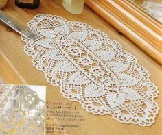 مفرش كروشيه بيضاوي - oval crochet doily ~ شغل ابره NEEDLE CRAFTS