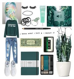 """Dark green"" by onlyforstyle on Polyvore featuring moda, H&M, Boohoo, Shinola, Chicnova Fashion, adidas, Battington, Bobbi Brown Cosmetics, Origins e Nicole Miller"