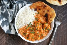 The butter chicken sauce is thick, creamy and rich; I always serve the dish with a side of naan bread to dip in the extra sauce. This is one of those meals where you can't help but go back for a second helping. Tandoori Masala, Garam Masala, Indian Butter Chicken, Indian Food Recipes, Ethnic Recipes, Indian Dishes, Vegan Butter, Main Meals, Food Hacks