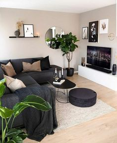 Magnificient Living Room Colors ideas that inspire your apartment decor Design Living Room, Living Room Decor Cozy, Living Room Colors, Home Living Room, Apartment Living, Living Area, Bedroom Decor, Small Living, Modern Living