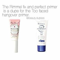 Rimmel Fix & Perfect: possible dupe for Too Faced Hangover Rx?