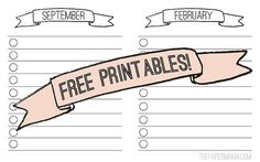 Free printables to keep you organized with a home improvement schedule. via: http://www.bhg.com/blogs/better-homes-and-gardens-style-blog/2012/09/20/diy-ify-whats-your-home-improvement-schedule/