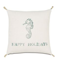 Festive Seahorse from Eastern Accents   Terrific assortment of pillows