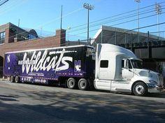 Northwestern University Wildcats - equipment transporter for away football games