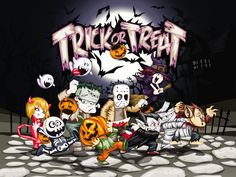 Halloween Trick or Treat Background​ | Gallery Yopriceville - High-Quality Images and Transparent PNG Free Clipart