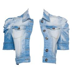 Cropped Denim Jacket. super cute with corset style ribbon on the back.