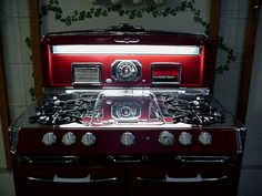 """Custom Color Red O'Keefe & Merritt 40"""" Antique Gas Stoves"""