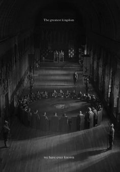 Notice Merlin standing off to the side. He made Camelot so great
