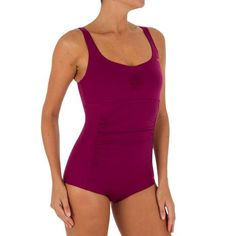 Mary Shortcut Women's One-Piece Aquafitness Swimsuit - Pink   Nabaiji