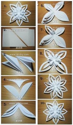 In this DIY tutorial, we will show you how to make Christmas decorations for your home. The video consists of 23 Christmas craft ideas. Christmas Paper Crafts, Holiday Crafts, Christmas Diy, Christmas Ornament, Decoration Evenementielle, Paper Decorations, Christmas Decorations, Paper Flowers Diy, Flower Crafts