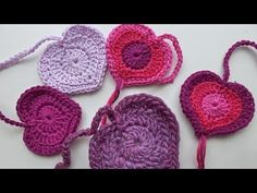 Crochet with eliZZZa * Crochet Heart Valentina * Valentines Day Crochet Heart. * This video teaches you how to crochet a tiny and cute crochet heart in two . Help us caption & translate this video! Crochet Home, Cute Crochet, Beautiful Crochet, Knit Crochet, Crochet Geek, Freeform Crochet, Crochet Stitches Patterns, Couture, Wool Yarn
