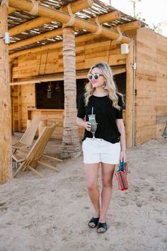 Black + White Old Navy Outfit | bows & sequins