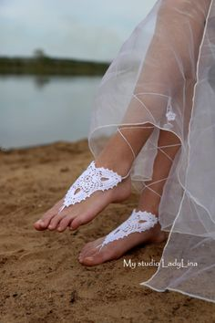Wedding Crochet Barefoot Sandals, Nude shoes, Foot jewelry, Sexy, Yoga, Barefoot Sandles, GIFT WRAPPED