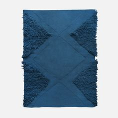 Kilim blue Tufted triangles area rug | 54 Kibo | $225 3x5