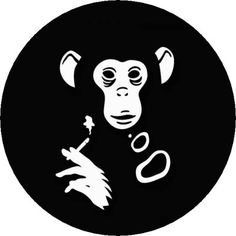 Smoking Monkey -  Pin Button