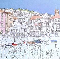 'Falmouth Harbour' Freehand Embroidery  Commission 2014