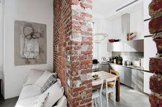 Ένα μικροσκοπικό διαμέρισμα διαφορετικό από όλα τα άλλα Ο industrial χαρακτήρας του οφείλεται στο χαρακτηριστικό του στοιχείο.