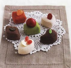 Cakes. Libro japonés Felted Sweet Treats