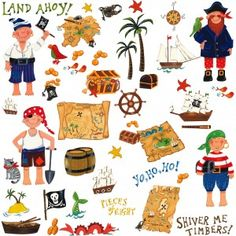 Pirate Wall Stickers, boys wall stickers with Pirates | Becky & Lolo
