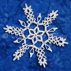 Solstice Snowflake crochet pattern Lots of snowflakes here Crochet Snowflake Pattern, Crochet Stars, Crochet Snowflakes, Crochet Cross, Thread Crochet, Crochet Motif, Crochet Doilies, Crochet Flowers, Crochet Angels