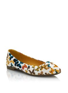 printed butterfly flats