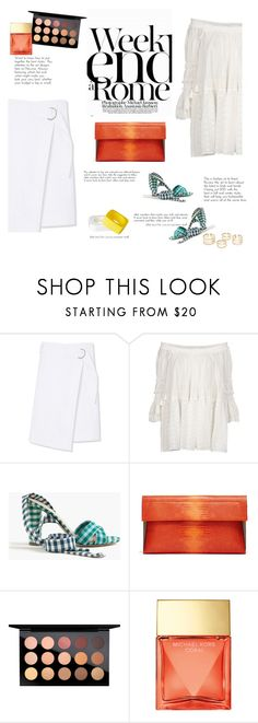 """Weekend in white"" by naki14 ❤ liked on Polyvore featuring Tory Burch, Chloé, J.Crew, LARA, MAC Cosmetics, Michael Kors, white, weekend, trend and spring2016"