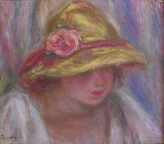 'Etude de Femme Au Chapeau Jaune' by Pierre-Auguste Renoir.