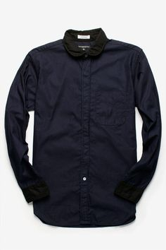 CONTRAST COLLARS WITH CONCEAL PLACKET