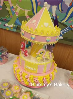My Little Pony Carousel Cake