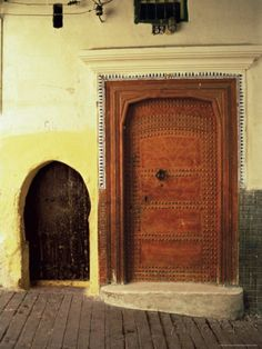 Doors in the Medina, Tangiers, Morocco, North Africa.