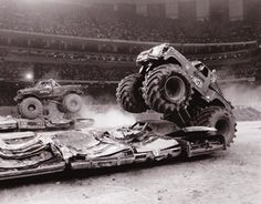 In 1985 Jim Kramer and BIGFOOT IV raced Jeff Dane and Awesome Kong II in the Louisiana Superdome during the finals for the first national side-by-side competition. As seen on the TV special, Return of the Monster Trucks.
